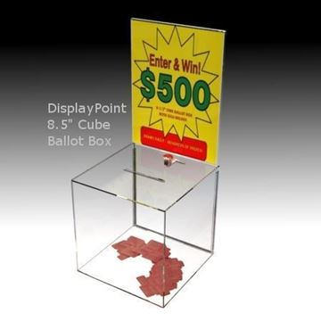 "Picture of Impact Resistant 8.5"" Ballot Box with Sign Holder"