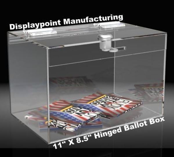 Picture of 11 inch Hinged Ballot Box
