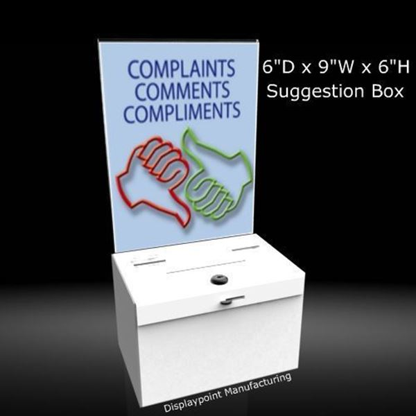 Picture of Small Countertop Suggestion Box with Sign