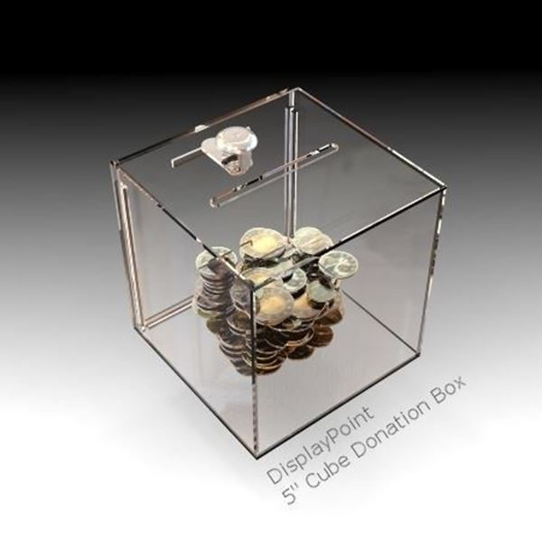 Picture of 5 inch Cube Donation Box