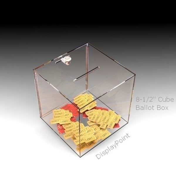 Picture of 8-1/2 inch Cube Ballot Box