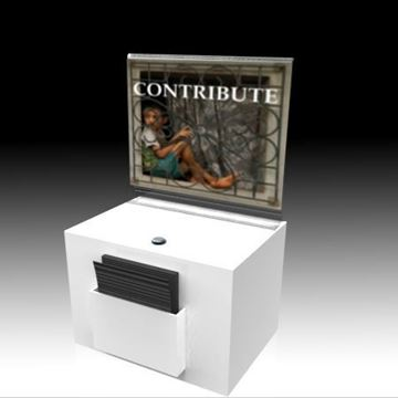 Picture of Countertop Suggestion Box White With Sign