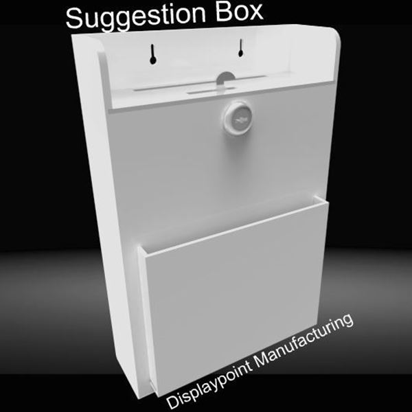 Picture of Wallmount Suggestion Box White