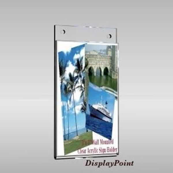 "Picture of 3""W x 5""H Wallmount Sign Holder - Portrait"