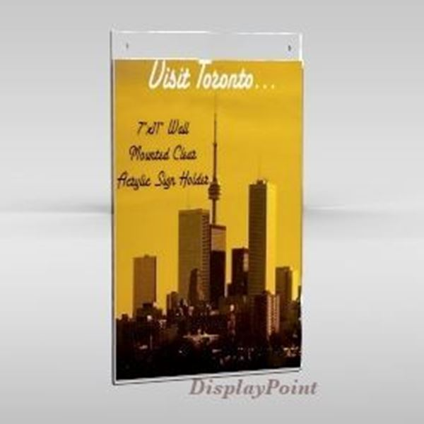 "Picture of 7""W x 11""H Wallmount Sign Holder - Portrait"