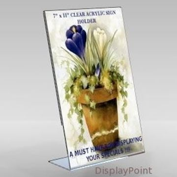 "Picture of 7""W x 11""H Tabletop Slanted Sign Holder - Portrait"