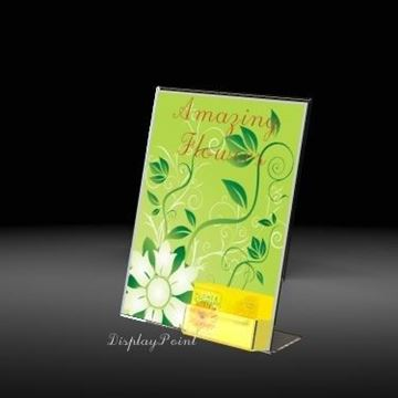 "Picture of 8-1/2""W x 11""H Slanted Sign with Business Card Holder"