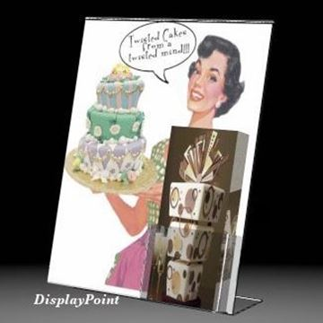 "Picture of 11""W x 14""H Slanted Sign with Trifold Brochure Pocket"
