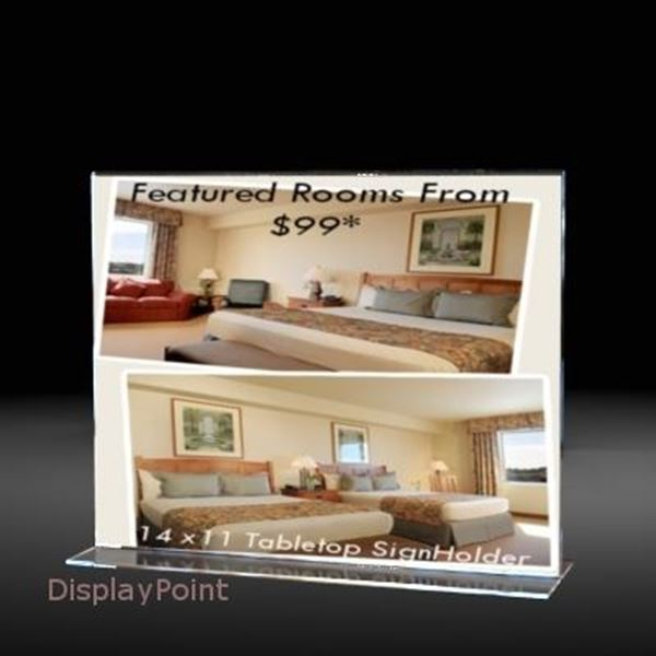 "Picture of 14""W x 11""H Tabletop Vertical Sign Holder - Landscape"