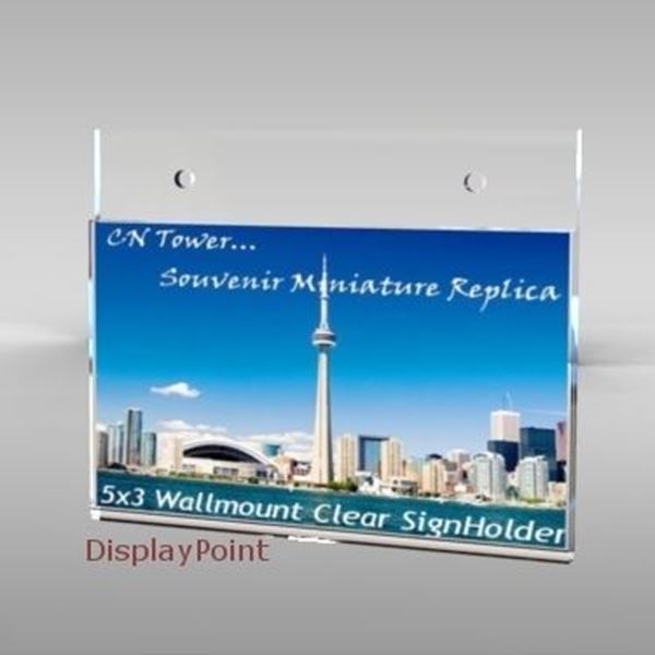 "Picture of 5""W x 3""H Wallmount Sign Holder - Landscape"