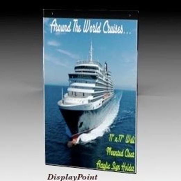 "Picture of 11""W x 17""H Wallmount Sign Holder - Portrait"