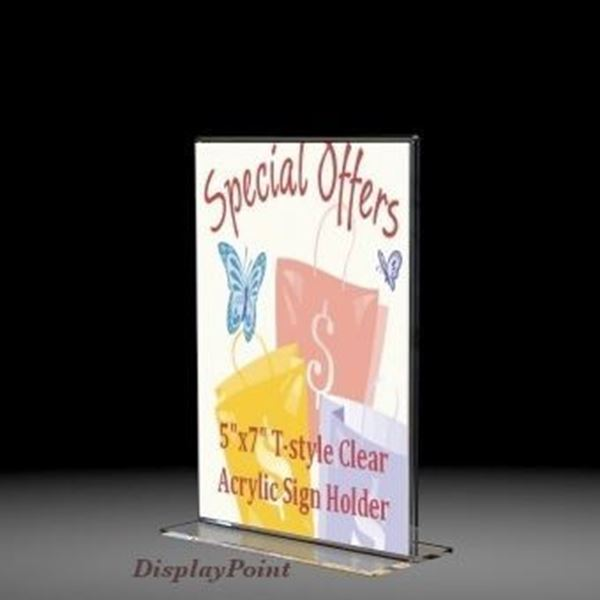 "Picture of 5""W x 7""H Tabletop Vertical Sign Holder - Portrait"
