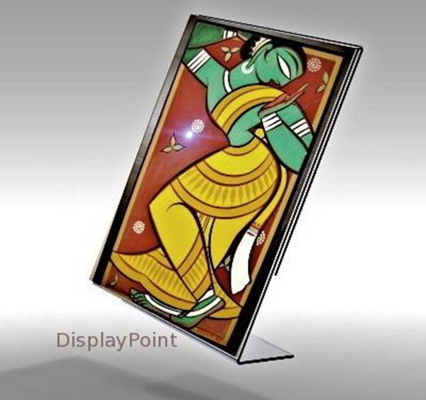 "Picture of 8-1/2""W x 11""H Tabletop Slanted Sign Holder - Portrait"