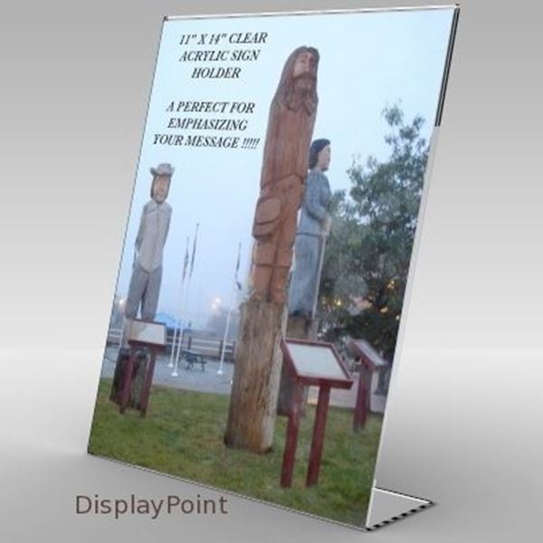 "Picture of 11""W x 14""H Tabletop Slanted Sign Holder - Portrait"