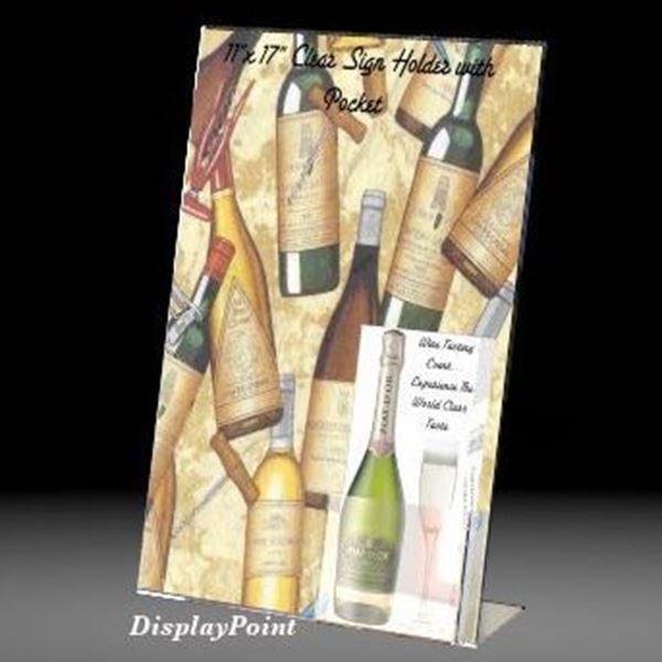 11 w x 17 h slanted sign with trifold brochure pocket 406 shsp 1117